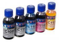Комплект чернил WWM Canon PGI-520/CLI-521 (C10/11SET5-2) (G110422) 100 мл (г)