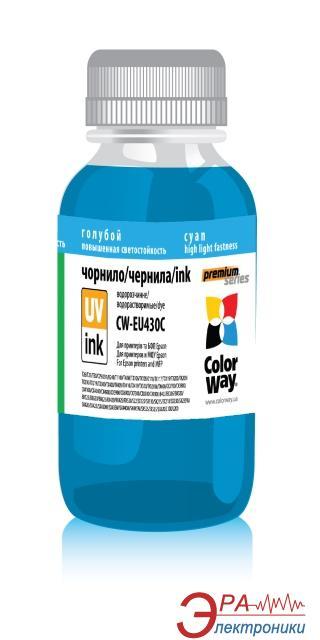Чернила ColorWay Epson UV SX130/430 Cyan EU430С (CW-EU430C) 100 мл (г)