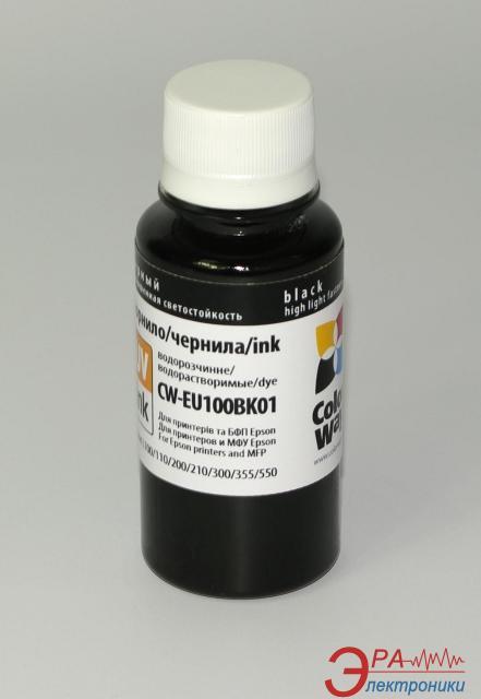 Чернила ColorWay Epson L100/L200 Black (EU100BK01) 100 мл (г)