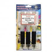 Заправочный набор WWM Canon PG-510/PG-512 Black IR3.C10/BP (G211123) 3 x 20 мл (г)