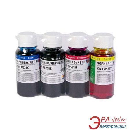 Комплект чернил ColorWay Canon PG-510/CLI-521 BK/С/M/Y (CW-CW520/521SET-01) 4 х 100 мл (г)