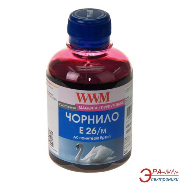 Чернила WWM Epson XP-600/605/700 Magenta (E26/M) (G224641) 200 мл (г)