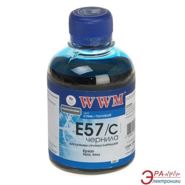 Чернила WWM Epson R2400/2880 Cyan (E57/C) (G222531) 200 мл (г)