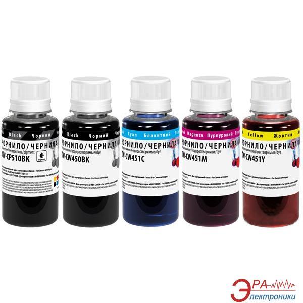 Комплект чернил ColorWay Canon PGI-450/CLI-451 (CW-CW450/CW451SET01P) 5 x 100 мл (г)