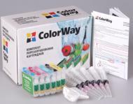 Комплект перезаправляемых картриджей ColorWay T50RC-0.0 Epson (Stylus Photo T50/T59/R270/R290/R295/R390/RX590/RX610/RX615/TX650/TX659/RX690/TX700/TX710/TX800/1410)