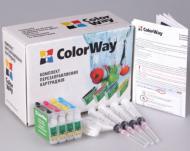 Комплект перезаправляемых картриджей ColorWay T40RC-4.1 Epson (Stylus TX200/TX209/TX210/TX219/TX400/TX409/TX410/TX419/TX550W Stylus Office TX300/TX600/T40W)