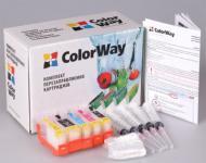 Комплект перезаправляемых картриджей ColorWay IP3600RC-4.5 Canon (PIXMA MP540/MP550/MP560/MP620/MP630/MP640/MX860/MX870/IP3600/IP4600/IP4700)
