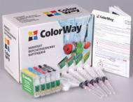 Комплект перезаправляемых картриджей ColorWay T1100RC-5.1 Epson (Stylus Office T30/TX510/T1100)
