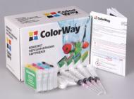 Комплект перезаправляемых картриджей ColorWay C63RC-4.1 Epson (Stylus C63/C65/C83/C85/CX3500/CX4500/CX6300/CX6500)