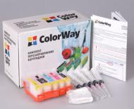 Комплект перезаправляемых картриджей ColorWay (IP3600RC-4.1) Canon (PIXMA MP540/MP550/ MP560/MP620/MP630/ MP640/MX860/MX870/ IP3600/IP4600/ IP4700)