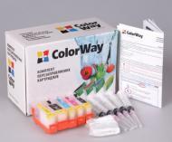 Комплект перезаправляемых картриджей ColorWay IP3600RN-5.5 Canon (PIXMA MP540/MP550/MP560/MP620/MP630/MP640/MX860/MX870/IP3600/IP4600/IP4700/IP4840/MG5140/MG5240/IX6540/IP4940/MG5340)