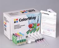 Комплект перезаправляемых картриджей ColorWay SX130RC-0.0 Epson (Stylus S22 / SX125 / SX420 / SX425 / SX130 / SX230 / SX235W / SX430W / SX435W / SX440W / SX445W Stylus Office BX305)