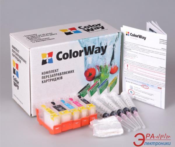 Комплект перезаправляемых картриджей ColorWay (IP4840RC-5.5) Canon (PIXMA IP4840 / MG5140 / MG5240 / IX6540 / IP4940 / MG5340)