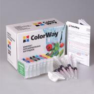 Комплект перезаправляемых картриджей ColorWay (R800RC-8.1P) Epson (Stylus Photo R800 / R1800)