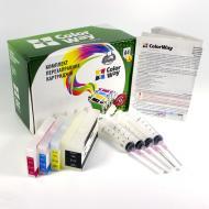 Комплект перезаправляемых картриджей ColorWay (H950RC-4.1P) HP (OfficeJet Pro 8100 / 8600)