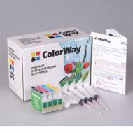 Комплект перезаправляемых картриджей ColorWay (T26RC-4.5PG) Epson (Stylus C91 / CX4300 / T26 / T27 / TX106 / TX109 / TX117 / TX119)