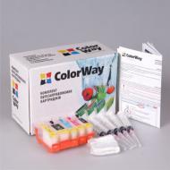 Комплект перезаправляемых картриджей ColorWay (IP3600RC-0.0) Canon (PIXMA IP3600/ IP4600/ IP4700/ MP540/ MP550/ MP560/ MP620/ MP630/ MP640/ MX860/ MX870)