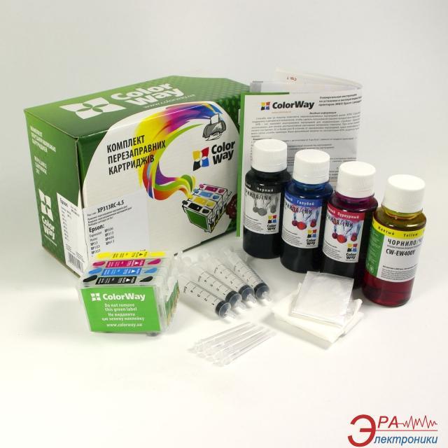 Комплект перезаправляемых картриджей ColorWay (XP113RC-4.1) Epson (XP103/ XP203/ XP207/ XP303/ XP306/ XP313/ XP33/ XP406/ XP413)