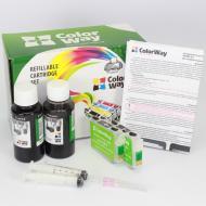 Комплект перезаправляемых картриджей ColorWay K101RC-2.1 Epson (WorkForce K101/ K201/ K301)