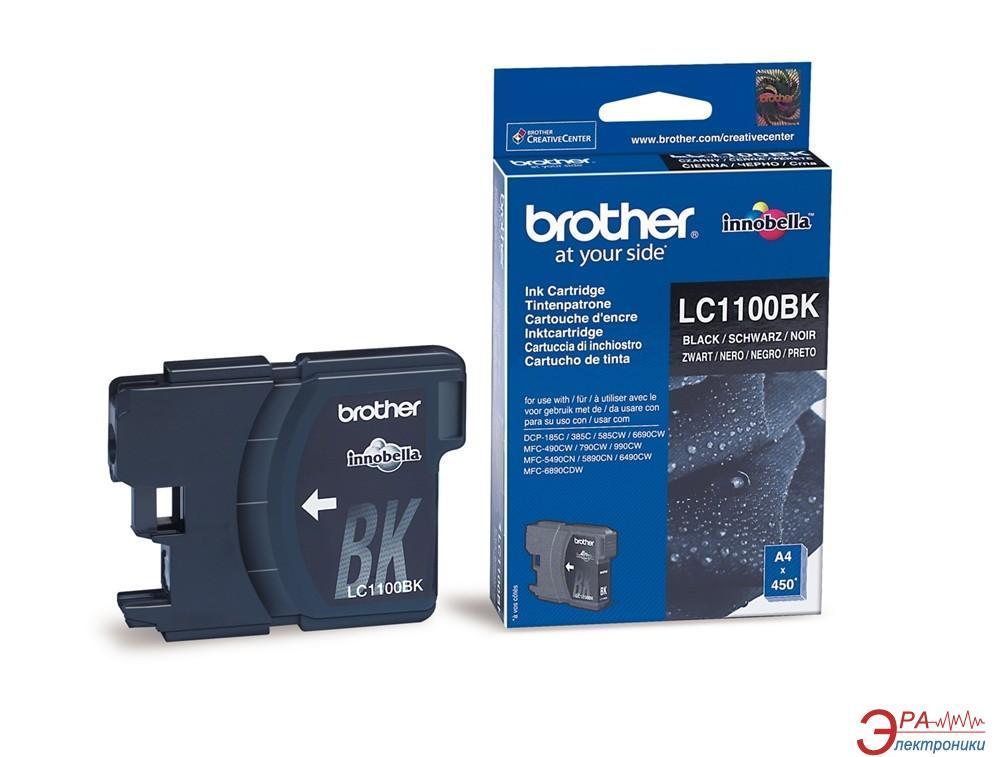 Картридж Brother (LC1100BK) (DCP385C/6690CW, MFC990CW) Black