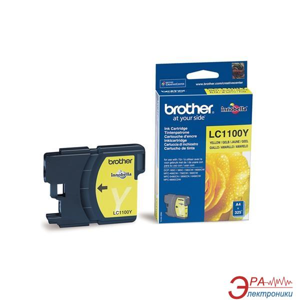 Картридж Brother (LC1100Y) (DCP385C/6690CW, MFC990CW) Yellow