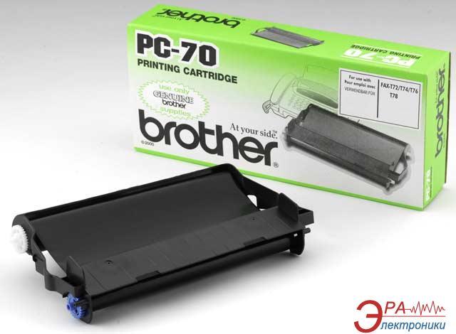 Картридж Brother PC-70 (PC70) (FAX T7x/ T8x/ 630/ 645/ 685/ 690/ 727/ 737) Black