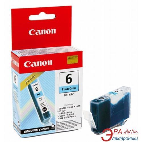 Картридж Canon BCI-6PC (4709A002) (BJC-8200, BJ-i905D/i9100/i950/i965/i9950, BJ-S800/S820D/S830D/S900/S9000, PIXMA iP6000D/iP8500) Photo cyan