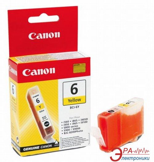 Картридж Canon BCI-6Y (4708A002) (BJC-8200, BJ-i560/i865/i905D/i9100/i950/i965/i9950, BJ-S800/S820D/S830D/S900/S9000, PIXMA iP3000/4000/5000/6000D/8500, MP750/760/780) Yellow