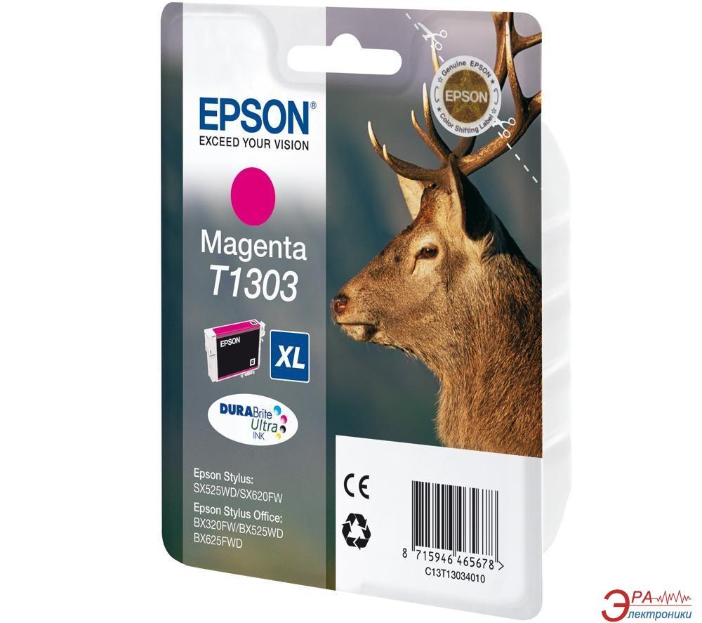 Картридж Epson (C13T13034010) (Epson Stylus SX525WD, Epson Stylus Office: B42WD/BX320FW/BX625FWD/WF7015) Magenta
