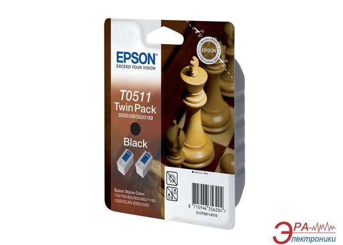 Картридж Epson double (C13T05114210) (Stylus Color 740/760/800/850/860/1160/1520 Stylus Scan 2000/2500) Black