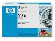 Картридж HP 27X (C4127X) (LaserJet 4000, LaserJet 4000n, LaserJet 4000se, LaserJet 4000t, LaserJet 4000tn, LaserJet 4050, LaserJet 4050 USB-MAC, LaserJet 4050n, LaserJet 4050t, LaserJet 4050tn) Black