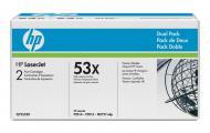 �������� HP 53X (max) Dual Pack (Q7553XD) (LaserJet P2014/P2015 series, LaserJet M2727nf series) Black