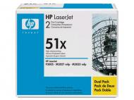 Картридж HP 51X (max) Dual Pack (Q7551XD) (LaserJet P3005, LaserJet M3027/M3035 series) Black