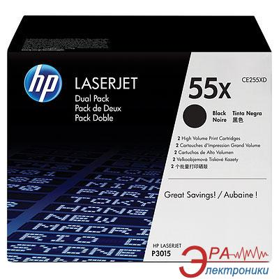 Картридж HP 55X (max) Dual Pack (CE255XD) (LaserJet Enterprise P3015d/P3015dn/P3015x) Black
