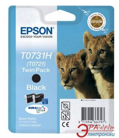 Картридж Epson double (старый код C13T07214A10) (C13T10414A10) (Stylus C110/ CX7300/ 8300/CX930F) Black