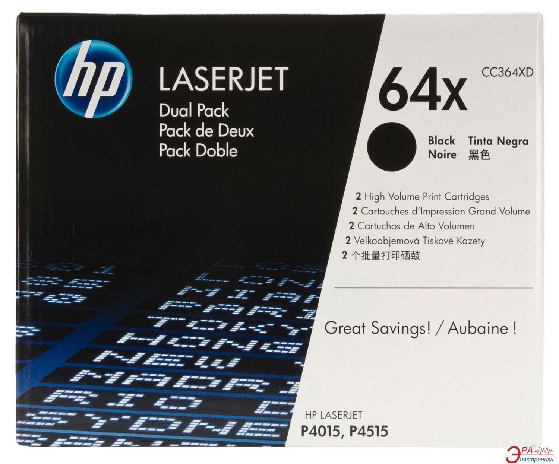 Картридж HP Dual pack (CC364XD) (LaserJet P4015, P4515) Black