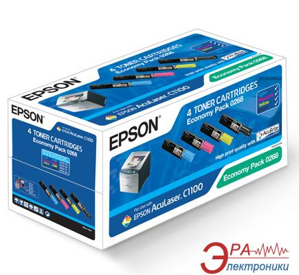 Картридж Epson (C13S050268) (AcuLaser C1100/CX11N/CX11NF) Bundle (C, M, Y, Bk)