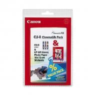 Картридж Canon CLI-8 (0621B015) (iP8500, iP6000D, iP5000, iP4000R, iP4000, iP3000, i9900, i9100, i960, i950, i900D, i860, i560, S9000, S900, S830D, S820D, S820, S800, BJC 8200, MP780, MP760, MP750) Color (C, M, Y)