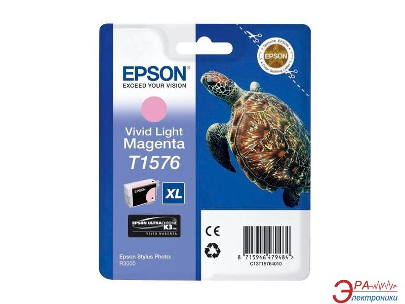 Картридж Epson (C13T15764010) (Stylus Photo R3000) vivid light magenta