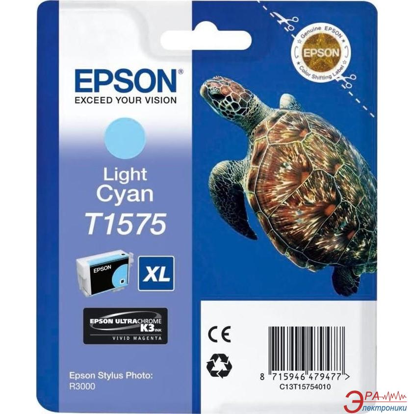 Картридж Epson (C13T15754010) (Stylus Photo R3000) light cyan