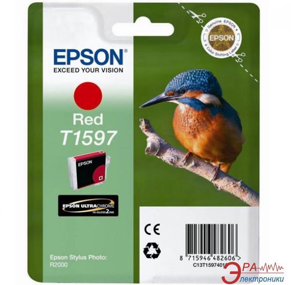 Картридж Epson (C13T15974010) (Stylus Photo R2000) Red