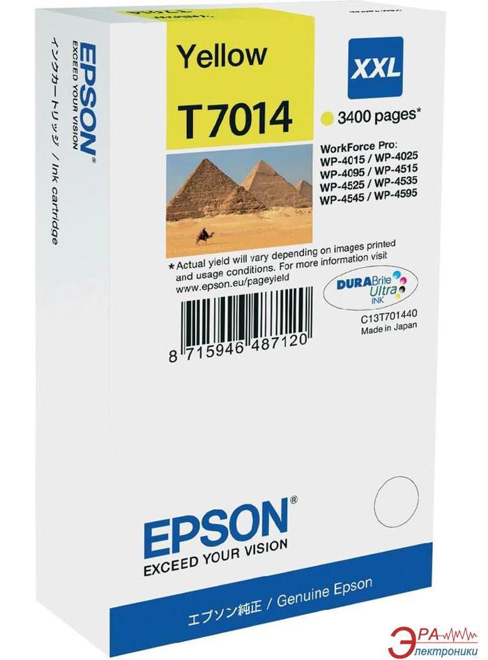 Картридж Epson (C13T70144010) WP 4000/ 4500 XXL Yellow