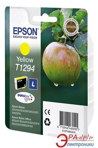 Картридж Epson (C13T12944011) (Epson Stylus: SX420W/SX425W/SX525WD, Epson Stylus Office: BX305F/B42WD/BX625WFD/BX320FW) Large yellow