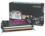 Картридж Lexmark C734A1MG (X736de/ X738de/ X734de/ X738dte/ C734dn/ C736dn/ C736n/ C736dtn/ C734dtn/ C734n/ C734dw) Magenta