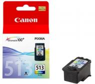 Картридж Canon CL-513 (2971B007) (MP240/250/260/270/272/280/490/492/495/MX320/330) Color (C, M, Y)