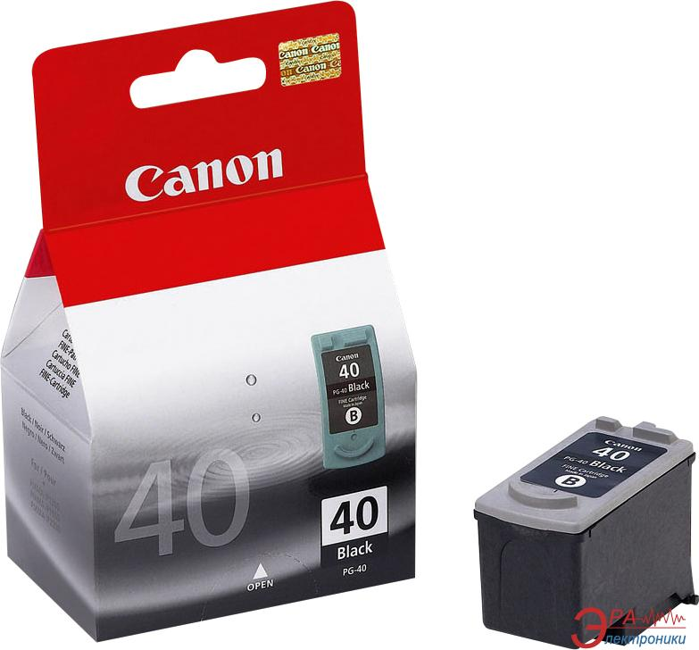 Картридж Canon PG-40Bk (0615B025) (iP1600/1700/1800/2200/2500 MP150/170/450 FaxJX200/500) Black