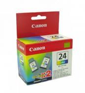 Картридж Canon BCI-24 (twin pack) (6882A009) (S200/200х/300 /330Photo, i250/i320/i350 /i450/i455/ 475D, SmartBase 190/200/MP360/370/390, PIXMA iP1000/ iP1500/iP2000, PIXMA MP110/MP130) Color (C, M, Y)