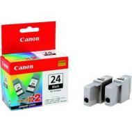 Картридж Canon BCI-24Bk (twin pack) (6881A009) (S200/200х/300/330Photo, i250/i320/i350/i450/i455/475D, SmartBase 190/200/MP360/370/390, PIXMA iP1000/iP1500/iP2000, PIXMA MP110/MP130) Black