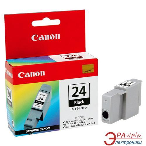 Картридж Canon BCI-24Bk (6881A002) (S200/200х/300/330Photo, i250/i320/i350/i450/i455/475D, SmartBase 190/200/MP360/370/390, PIXMA iP1000/iP1500/iP2000, PIXMA MP110/MP130) Black