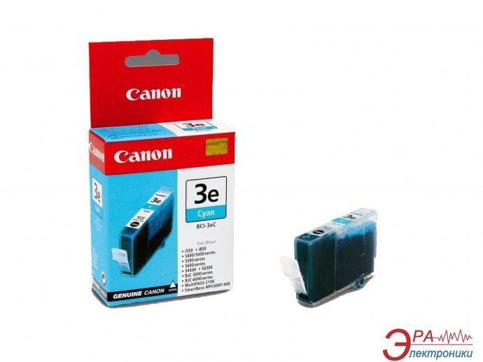 Картридж Canon BCI-3eC (4480A002) (BJC-3000/6000/6100/6200/6500, BJ-i550/i850/i6500, S400/450/4500/500/520/600/630/6300/750, SmartBase MPC400/600F/MP700Photo/MP730Photo) Cyan